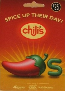 I'm giving away a $25 Chili's Gift Card…