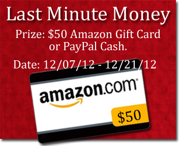 Last Minute Money giveaway