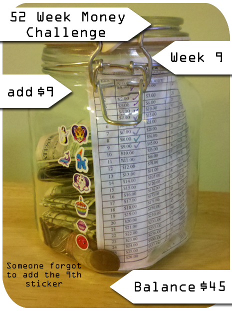 52 Week Money Saving Challenge Week 9