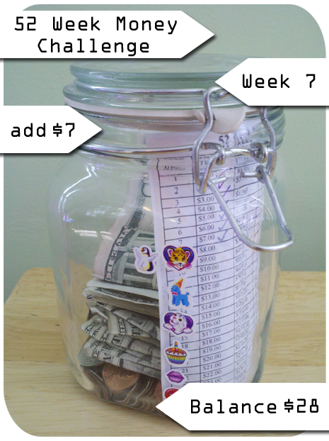 The 52 week money challenge you game week 7 for Money in design home game