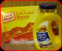 Delicious Bisquick Bacon Pancakes1