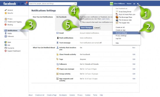 How to Turn Off FaceBooks Notification Sound