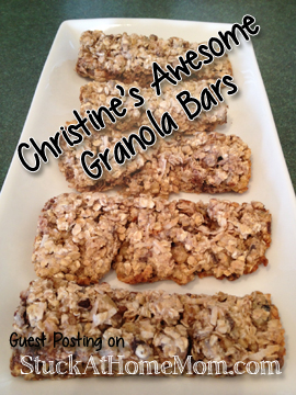 Christine's Yummy Awesome Granola Bars Recipe #recipe #granola