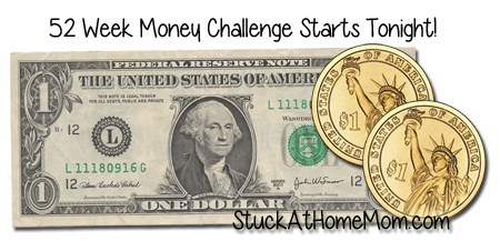 52 Week Money Challenge Starts Tonight