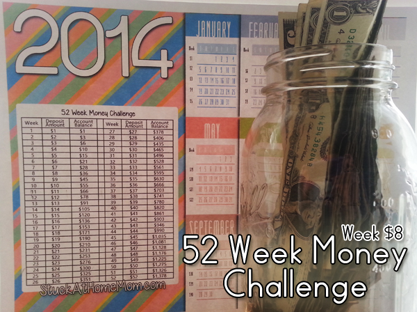 52 Week Money Challenge Week $8