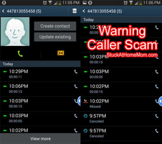 Cell Phone & Credit Card Scams 447813055458