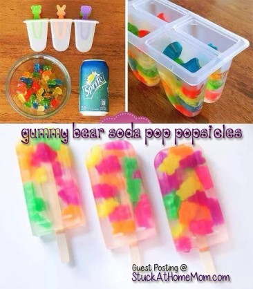 Gummy Bear Soda Pop Popsicles