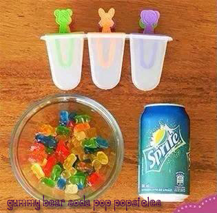 Gummy Bear Soda Pop Popsicles