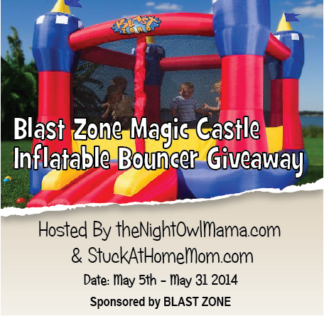 Enter the Blast Zone Magic Castle Inflatable Bouncer Giveaway. Ends 5/31.