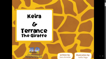 Keira and Terrance the Giraffe! A Personalized Book #personalizedbooks