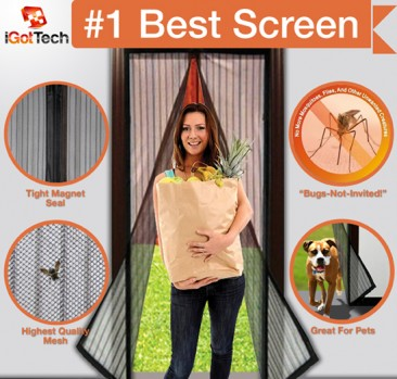Magnetic Screen Door #magneticscreendoor