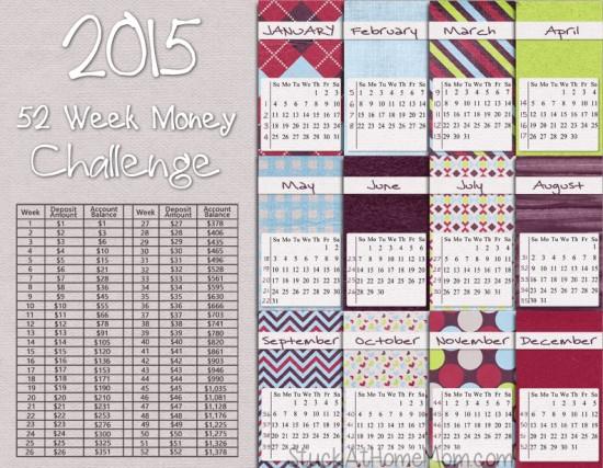 2015 52 Week Challenge Calendar | New Calendar Template Site