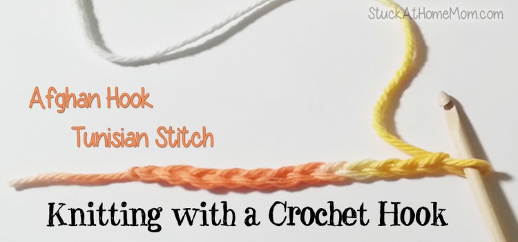Knitting with a Crochet Hook Afghan Hook Tunisian Stitch