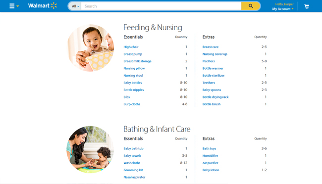 Pampers Swaddlers and Walmartcom Baby Registry