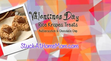 Valentines Rice Krispies Treats with Butterscotch & Chocolate Chips 2