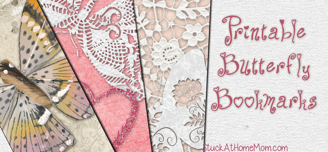 Printable Butterfly Bookmarks