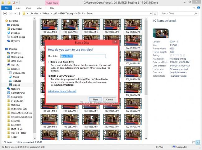 How to Burn a DVD Windows 8