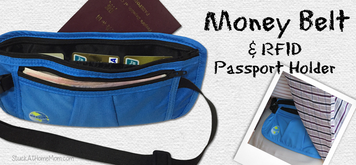 Money Belt and RFID Passport Holder
