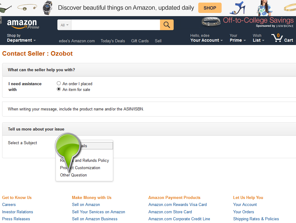 Amazon eu sarl contact seller