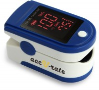CMS 500DL Generation 2 Fingertip Pulse Oximeter Oximetry Blood Oxygen Saturation Monitor with silicon cover, batteries and lanyard