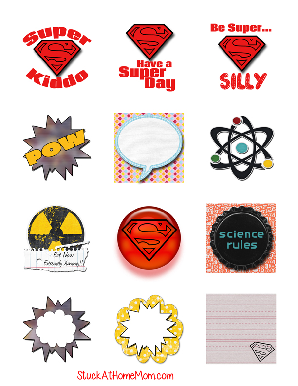 Super Lunch Stickers