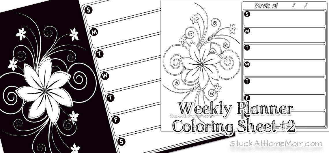 Weekly Planner Coloring Sheet 2