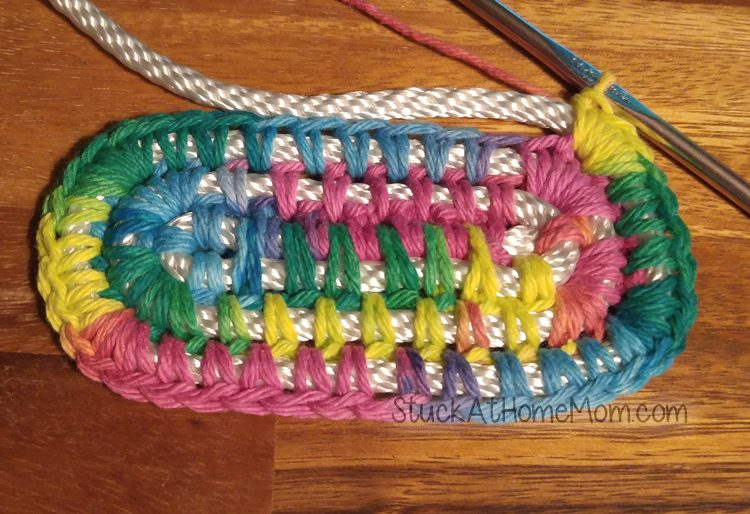 How to Crochet a Basket - Rectangle Bottom