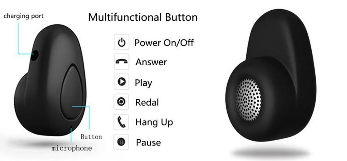 Invisible earbud set bluetooth - kids earbuds bluetooth