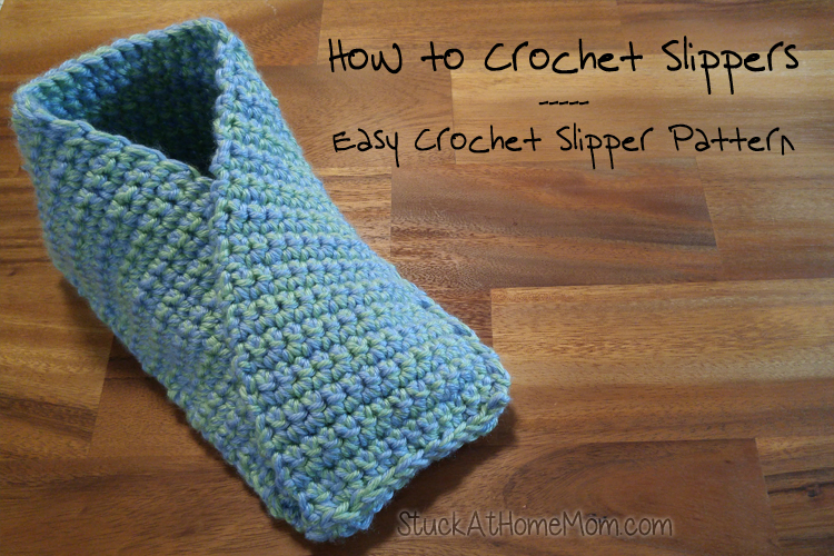 How to Crochet Slippers - Easy Crochet Slipper Pattern ...
