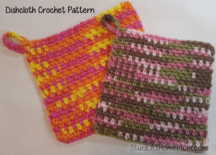 How to Crochet a Dishcloth - Dish Rag Crochet Pattern ...