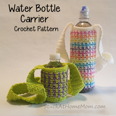 Water Bottle Carrier Crochet Pattern - @stuckathomemom