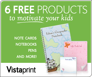Vistaprint – 6 Free Products to Motivate Kids