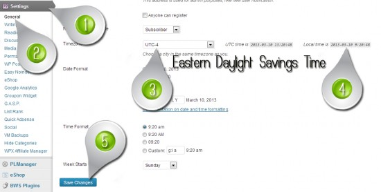 How to Change your Blogs Time [Daylight Savings & Standard Time]