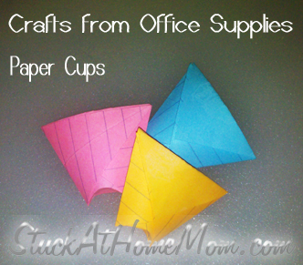 Crafts from Office Supplies – Paper Cups #theoffice #officesupplies #crafts