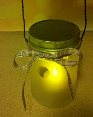 How to: Frosted Glass Lantern [UpCycle Guzman's Salsa Jars] #howto #craft #masonjars