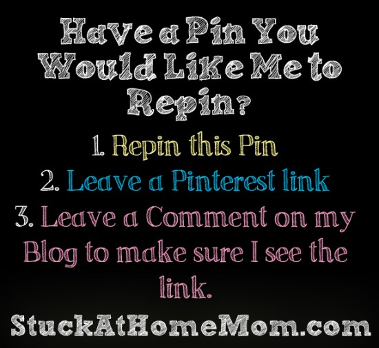 Have a Pin You Would Like Me to Repin?