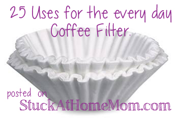 25 Uses for Coffee Filters #coffee #howto