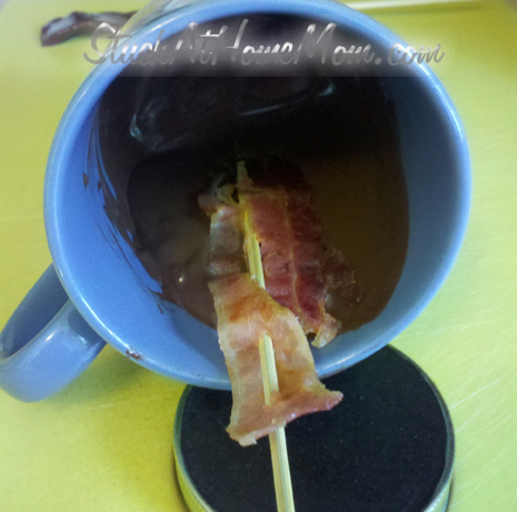 chocolate bacon lollipop