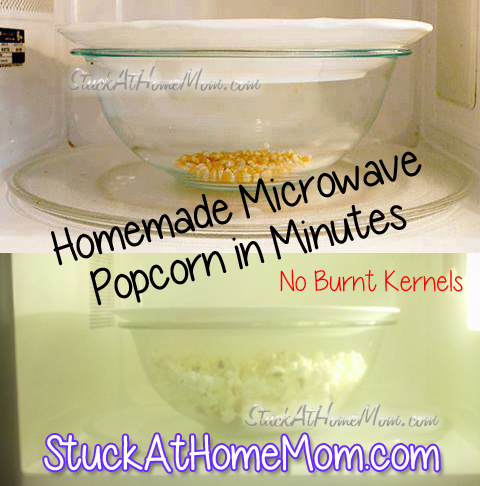 Quick & Easy Homemade Microwave Popcorn No Burnt Kernels #homemade #popcorn