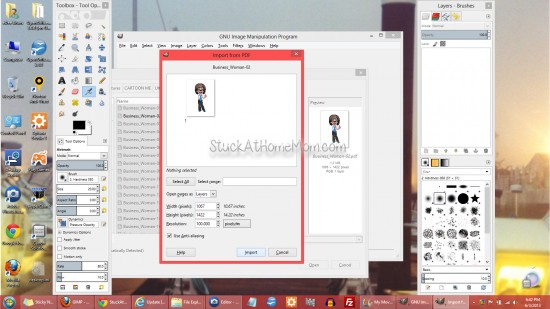 How to convert a .PDF to .JPG, .PNG, .PSD [and others] #gimp