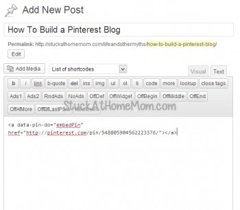 How to build a pinterest blog
