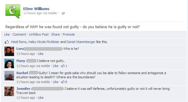 Was Trayvon Martin acting in self defense?
