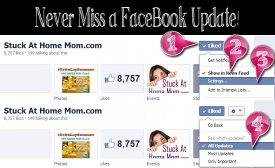 Never Miss a FaceBook Update