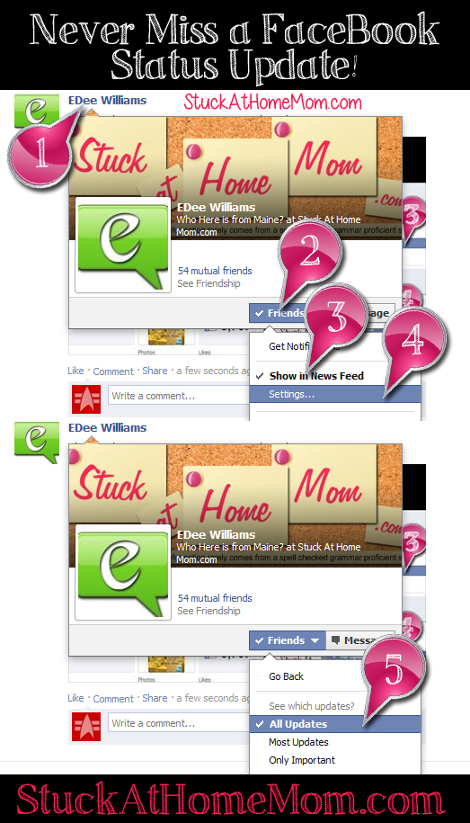 Never Miss a FaceBook Status Update! #facebook #update