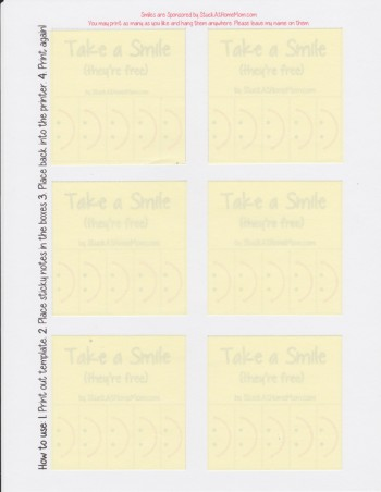 Post-It Notes Template Printout with Post-its
