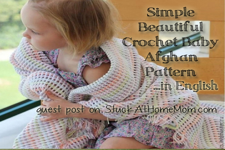 Simple Beautiful Crochet Baby Afghan Pattern in English #crochet #pattern