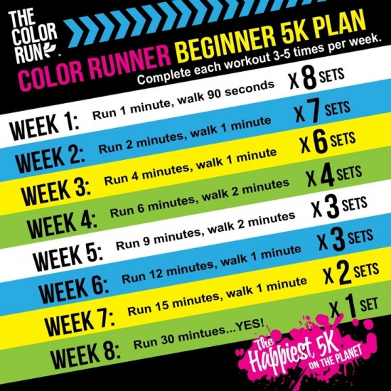 Color Run - learning to jog