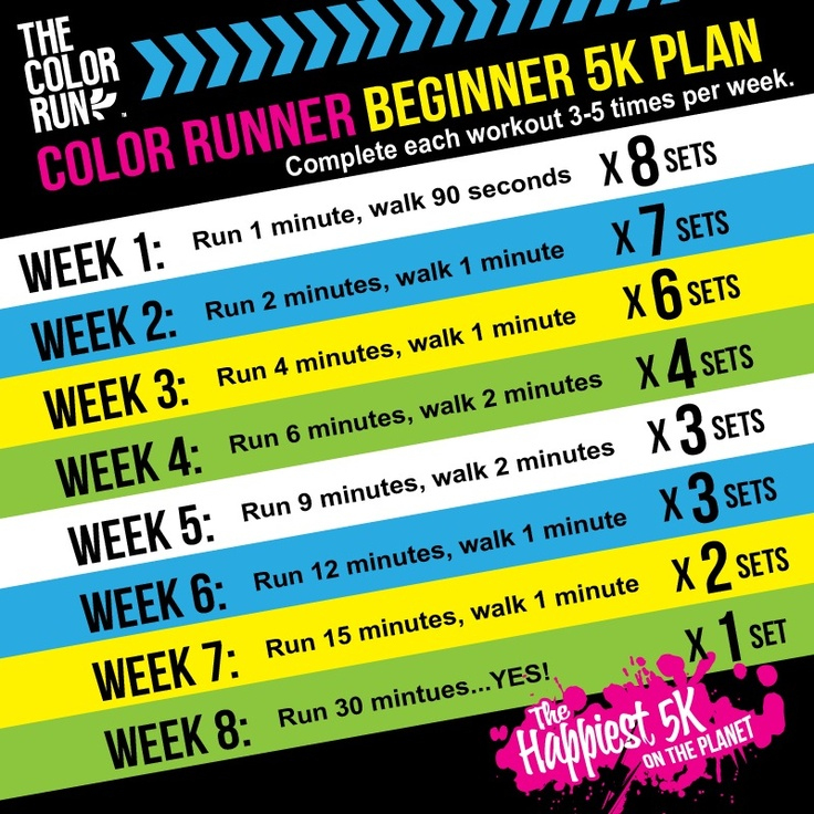 Color Run – learning to jog #colorrun #jogging