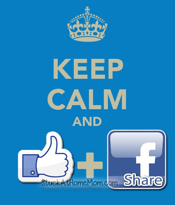 keep calm and like and share