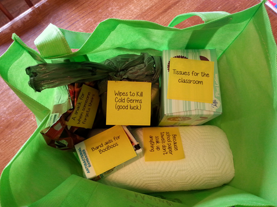 Anti-Cold Gift Bag for the Classroom #cold #flu #yuck